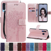 For Huawei P30 P Smart 2019 Tree&Cat Leather Flip Wallet Card Stand Case Cover