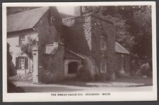 Postcard Stourton near Mere Wiltshire the Spread Eagle Inn pub posted 1954 RP