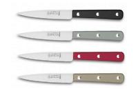 LOT DE 4 Couteaux de cuisine LA FOURMI ABS NOIR LV /TAUP/GRI/ROUG FRANCE INOX