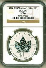 2012 S$5 Canada Maple Leaf Dragon Privy Mark NGC SP70