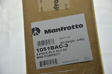 Manfrotto 1051BAC-3 Set 3 x Stativ Mini Compact Stand black treppiedi trépied