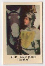 1960s Swedish Film Star Card Star G86 UK James Bond Ivanhoe actor Roger Moore