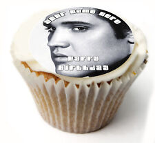 Cupcake Toppers Elvis personalised Rice paper Icing sheet 831