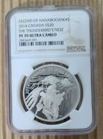 2014 CANADA $20 LEGEND OF NANABOOZHOO THUNDERBIRDS NEST SILVER COIN NGC PF70 UC