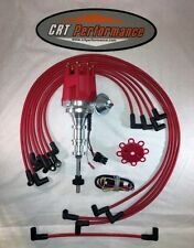 FORD Y-BLOCK 239-256-272-292-312 HEI DISTRIBUTOR RED & 8mm SPARK PLUG WIRES USA