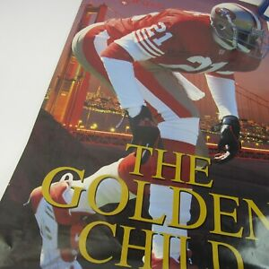 Deion Primetime Sanders Vintage Poster 1994 Costacos The Golden Child SF 49ers