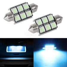 2pcs Ice Blue 36mm Error Free License Plate Light Festoon Lamp 6-SMD for BMW
