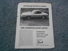 1972 1973 FIAT 850 ELECTRA SPIDER DEALER SALES 1-PAGE FLYER BROCHURE DIE MESH