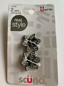 Scunci jaw Clips ( 2 pieces ) Real Style 21530 Flower U got this claw hair clip