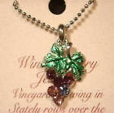 Grape cluster Austrian Crystal pendant jewelry 18 inch. chain wine country Napa
