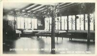 Echo Lake Ranch High Ridge Missouri 1930s RPPC Photo Postcard Interior 13665