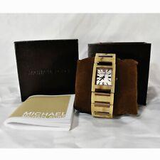 Michael Kors Tessa Mini Chocolate Dial Horn Acrylic Ladies Watch
