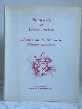 Catalogue sales Manuscripts and books old Illustrated 18 30 November 1966