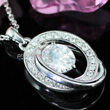 Cubic Zirconia Oval CZ Costume Necklaces & Pendants
