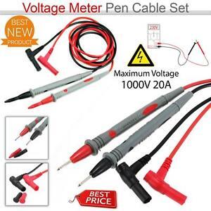 New Test Leads Wire Pen For Digital Multi Meter Tester Probe 10A 1000V UK Seller