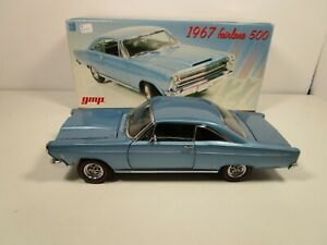 GMP 1/18 BLUE 1967 FORD FAIRLANE 500 USED VERY NICE *BOX ISSUE*