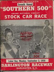 Darlington Raceway Southern 500 Auto Race Program 9/3/1956-Jim Reed #7-G