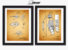Fred Bear Archery Patent prints, Razorhead and takedown bow.