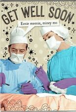 Funny Humour Greeting Card Get well soon doctor surgeon