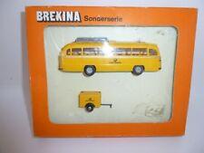 Vintage Brekina Postbus and trailer (Deutsche Bundespost) 1/87 VAT included