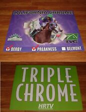 CALIFORNIA CHROME 2014 TRIPLE CHROME DERBY PREAKNESS BELMONT STAKES POSTERS LOT