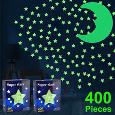 400x Glow in The Dark Stars and Moon Wall Stickers for Ceiling, Home Decoration