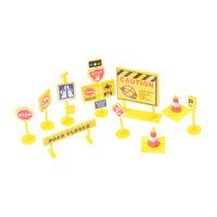 10pcs fai da te modello scena giocattolo segno roadblock segnaletica stradale rs