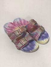 Nicole Miller Blingle Sparkle Tie-Dye Sandals Sz 6 EU 37 New Without Box