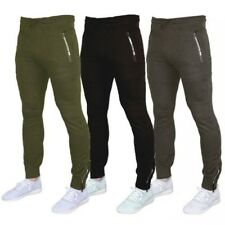 Mens Bottoms Crosshatch Jogging Pants Cuffed Trousers Running Gym Warm Fashion