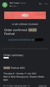 Nass 3 Day Camping Festival Ticket 2021