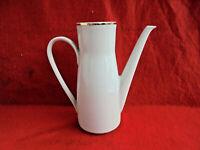 Kaffeekanne Porzellanwerk Colditz Weiß mit Goldrand Vintage