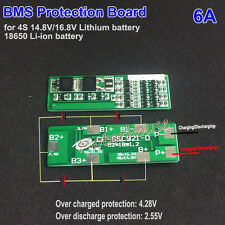 4S 6A 14.8V 16.8V 18650 Li-ion Lithium Battery Charger BMS Protection PCB Board