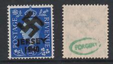 GB Jersey (270) 1940 Swastika Overprint forgey om genuine 2.5d stamp unmounted