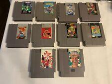 Nintendo NES Lot of 10 Games Cartridges Only No Duplicates