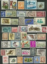 Small World stamps collection of 43 Stamps British Honduras, Canada, Ceylon used