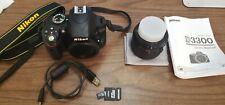 Nikon D D3300 24.2MP Digital SLR Camera - Kit w/ AF-S DX VR II 18-55mm Lens