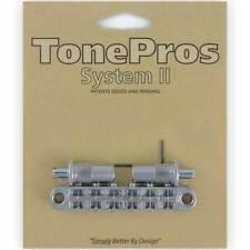 NEW TonePros T3BT-C Nashville Tunematic Bridge (Metric Thread) Tone Pros CHROME