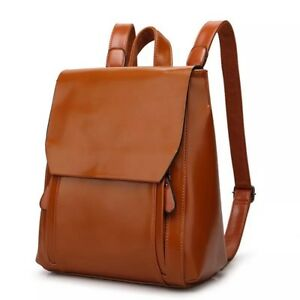 Women Ladies Girls Fashion Travel School Faux Leather Backpack Rucksack New