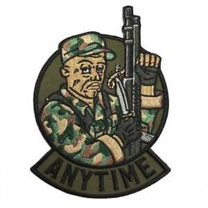 Predator Movie Patch Mac Anytime Embroidered Morale Military Tactical Airsoft
