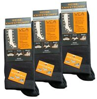 3 or 5 Pairs Unisex Flight Travel Compression Socks Rich Cotton DVT Support