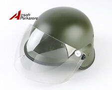 Tactical M88 PASGT Kelver Swat Helmet w/Clear Visor Airsoft Paintball Olive Drab