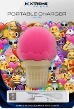 2200mAh Ice Cream USB Power Bank Charging Adapter iPhone Android Tablets Cameras