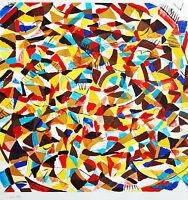 Helmut Dittmann 1931-2000: Farbkreis-Abstraktion, Tempera 70 x 70 cm Ausstellung