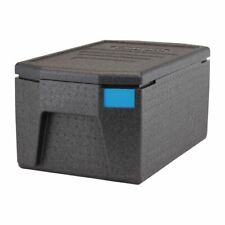 More details for cambro insulated top loading food pan carrier with large handles in black - 46l