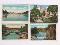 c1930s LOT of 4 Beautiful Vintage Wisconsin Postcards~ Appleton Milwaukee Wausau