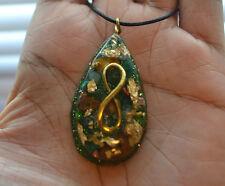Golden Infinity - Orgone Pendant - Malachite, Aventurine, Tiger's Eye, ORGONITE
