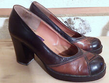 Chaussures Flagg Bros Vintage P.4 - 1970's Women's shoes Flagg Bros leather P.4