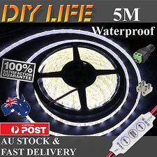 12V Cool White 5M 3528 SMD 300 LED Strips Led Strip Lights Waterproof car boat