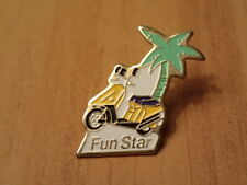 Vintage Hat/Lapel Pin/Pinback-FUN STAR SCOOTER-French Advertising-RARE FIND