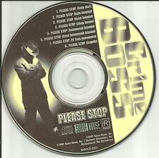 CRIME BOSS Please Stop 7TRX w/EXTENDED & INSTRUMENTAL & ACAPELLA PROMO CD Single
